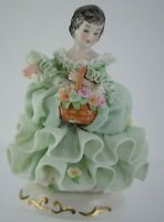 MZ Irish Dresden Lace Ireland Porcelain Figurine Dorothea Emerald Collection