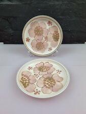 More details for 2 x denby gypsy tea / side plates 17 cm wide set