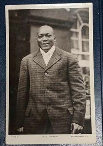 Antique Jack Johnson Boxer Boxing Real Photograph Postcard RPPC RARE!!