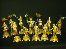 "RARE RON LEE (CLOWN-MAN) SET OF 12 ""INNSBROOK FIGURES""BRONZE SCULPTURE"