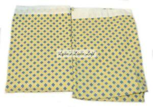 RALPH LAUREN Studio Citron Yellow Foulard KING PILLOWCASES NEW COTTON RARE