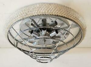 Mid-Century Modern Lamp Ceiling Light Lamp Fixture Chrome Chandelier Clear