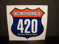 "SWEETWATER BREWING CO. 420 LOGO STICKER decal craft beer 5.5"" x 5"""