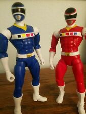 Loose Bandai America Power Rangers In Space Legacy Red and Blue ranger figures