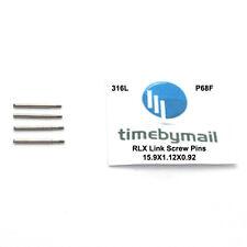 Pasadores de Enlace de Tornillo Rolex Para Reloj Correa de Acero Inoxidable 15.9 Mm x 1.12 X 0.92 parte P68F