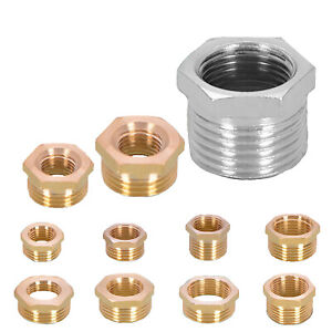 """Brass Reducing Hex Bush 3/4""""1/2""""1""""Male to Female BSP Coupler Connector Fitting"""