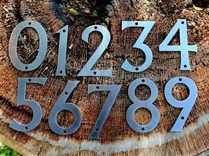 """4"""" Rustic Style Iron Metal Steel House Numbers Home Address"""