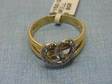 585er GG Ring 14 Karat mit Brillinten Ringgroße 55 Gewicht 3,8 Gramm