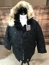 Extreme Cold Weather N3B Vintage Parka By Valley Apparel USA Made Black Medium