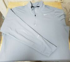 Nike Dri Fit Men's Gray 1/4 Zip Pullover Sweatshirt Long Sleeve Thumbholes Sz Xl