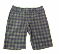 LOFT Ann Taylor  Bermuda Shorts  Green Blue Plaid Women's Size 2 Chino's Summer