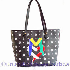 LOVE MOSCHINO JC4058 New Tote Shoppers Shoulder Hand Bag Black Tag + Dustbag
