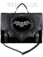 Restyle Magic Bat Briefcase Satchel Handbag Gothic Cameo Bag Bat Wings Witch