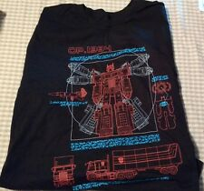 Transformers Optimus Prime Schematics Shirt Large Size L Loot Crate DX Exclusive