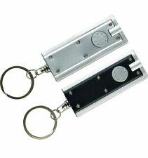 2 X Keyring Super Bright 10cm LED Torch Black Silver Camping Flashlight