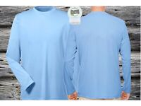 Microfiber Performance Dry Fit Long Sleeve Fishing Shirt UPF/SPF 50 Sky Blue