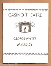 "Gypsy Rose Lee ""GEORGE WHITE'S MELODY"" Evelyn Herbert / Ina Ray 1933 Playbill"