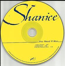SHANICE You Need a man w/ RARE INSTRUMENTAL PROMO Radio DJ CD Single 1999 USA