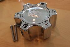 """Vision Wheel 375 Warrior Chrome Wheel  6 Lug Center Cap C375-6CDOC 2-7/8"""" Tall"""