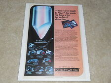 Shure Cartridge Ad, 1981, 1 page, V15 LT, Type IV, MV30HE, M97, Article