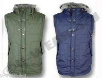 MENS FASHIONABLE DISSEDENT HOODED GILET BODYWARMER FLEECE LINED WARM GILPIN