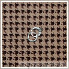 BonEful Fabric FQ Cotton Quilt VTG Brown Tan Horse Cowboy S Gingham Check Stripe