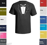 Funny T-Shirt Tuxedo Wedding Groom Prom Bachelor Party Tie Gift Shirt Tee