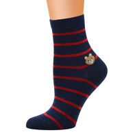 Frauen Nette Horizontale Liebes Muster Damen Mode Sock Tube Sock Striped Socken