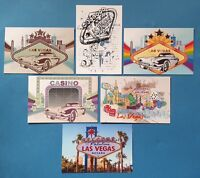 Quality Set of 6 Brand New Glossy Postcards, Las Vegas, Nevada, USA