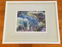 """""""GARDEN IN BLOOM"""" LIMITED EDITION WATERCOLOR PRINT BY MICHELLE KENNEDY SIGNED"""