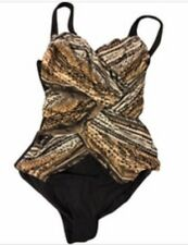 Gottex Swimwear Snake Charmer Contour Slimming Swimsuit one piece size 12 UK