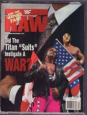 WWF Raw Magazine November December 1997 Bret Hart VG 042516DBE