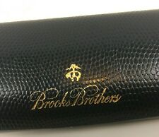 CASE BROOKS BROTHERS GLASSES HARD BLUE LEATHER SHELL GLASS SUNGLASSES NAVY