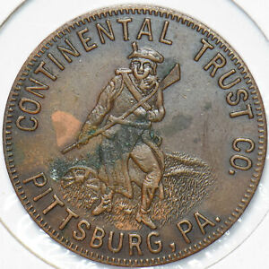Pittsburg, PA 50 Cents Token Continental Trust 293141 combine shipping