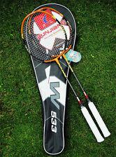 New 2 X Titanium Carbon Badminton Rackets with Bag