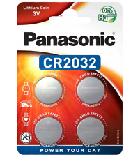 4x Panasonic CR2032 3V Lithium Coin Cell Battery 2032 Button DL2032. 079