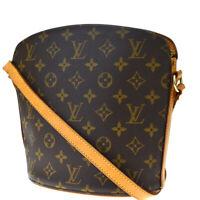 Auth Louis Vuitton Drouot Shoulder Bag Monogram Leather Brown M51290 70BQ404