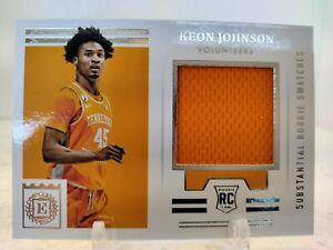 KEON JOHNSON JERSEY RELIC 2021-22 Panini Chronicles Draft ENCASED RC Knicks