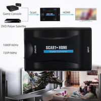 1080P Scart To HDMI Audio Video Adapter Converter  For HD TV DVD Player Black