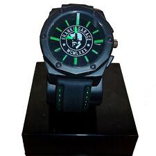 Reloj FRANKIE GARAJE negro y verde con correa de caucho