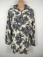 ZARA BASIC COLLECTION BLUE & WHITE FLORAL SHIRT BLOUSE CASUAL TOP  UK SMALL S