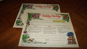 Western Union Greetings Unused Form Nice Graphic Christmas business santagram