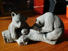 Mt. St. Helens Sculptors Two Bears on Log
