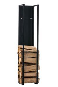 #LA97935/0809 Kaminholzständer Spark 100 schwarz-matt Brennholzregal Regal