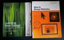 2 Books -Learning Web Design & How to Design Websites