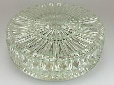 70er Jahre Deckenlampe Lampe Leuchte Plafoniere Bleikristall Glas Space Age 70s