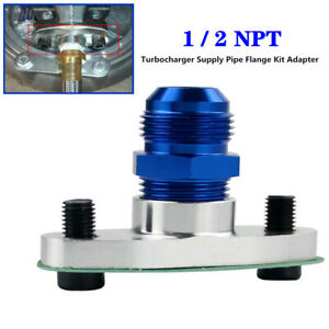 """1/2"""" Internal Thread Turbo Oil Inlet Turbocharger Supply Pipe Flange Kit Adapter"""