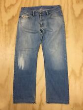 Diesel Levan Distressed Button Fly Denim Jeans Made in Italy Men's 36x33.5 As Is