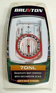 Brunton 7DNL Baseplate Map Compass With Declination Scale