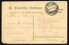 CARTOLINA Militare in franchigia 1916 da PM Int. 1° Armata a Tomba Verona (FILu)